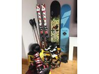 Ski and snowboard equipment
