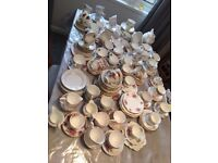 Mixed fine china cups/saucers over 200pcs