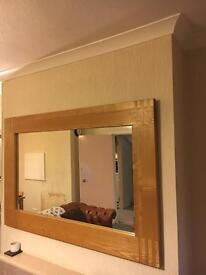 John Lewis solid oak mirror.