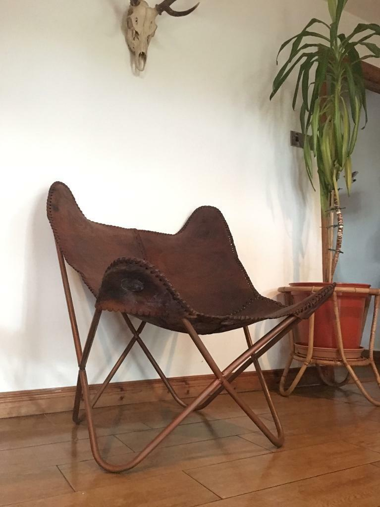 Original Vintage Mid Century Sling Butterfly Chair Retro Vintage