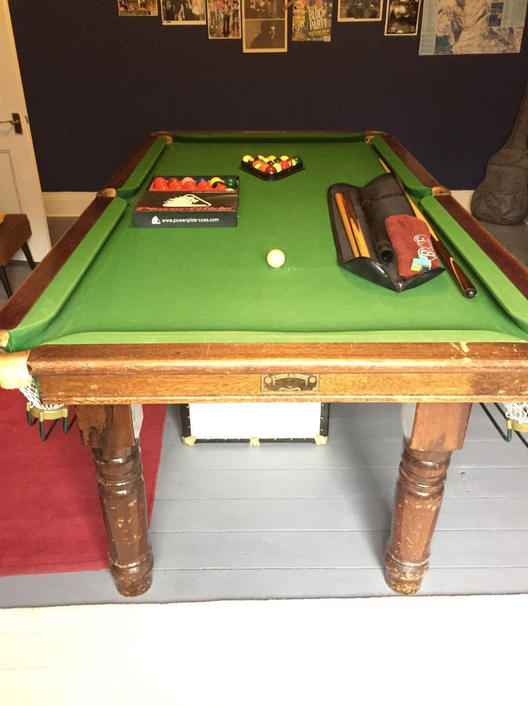 *Reduced* 7ft Slate Bed Snooker / Pool Table   Made By U0027Smith U0026