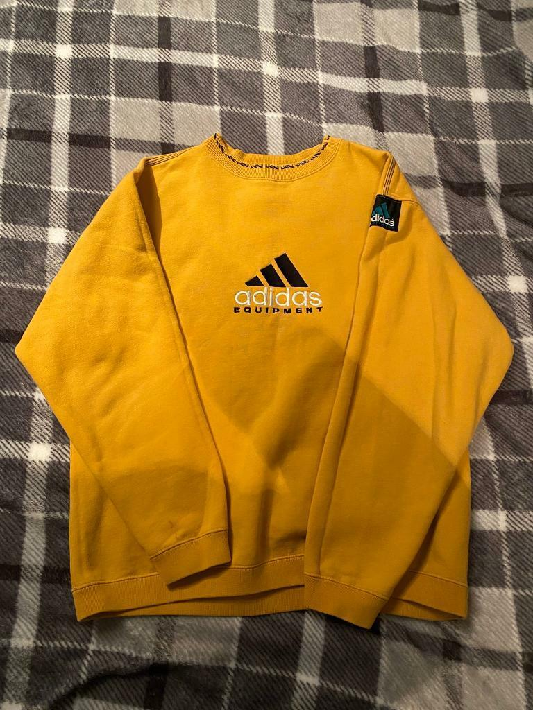 tomar bordillo Molestia  vintage adidas equipment yellow sweatshirt Cheap Shopping - Welcome at the  Cheapest Webshop
