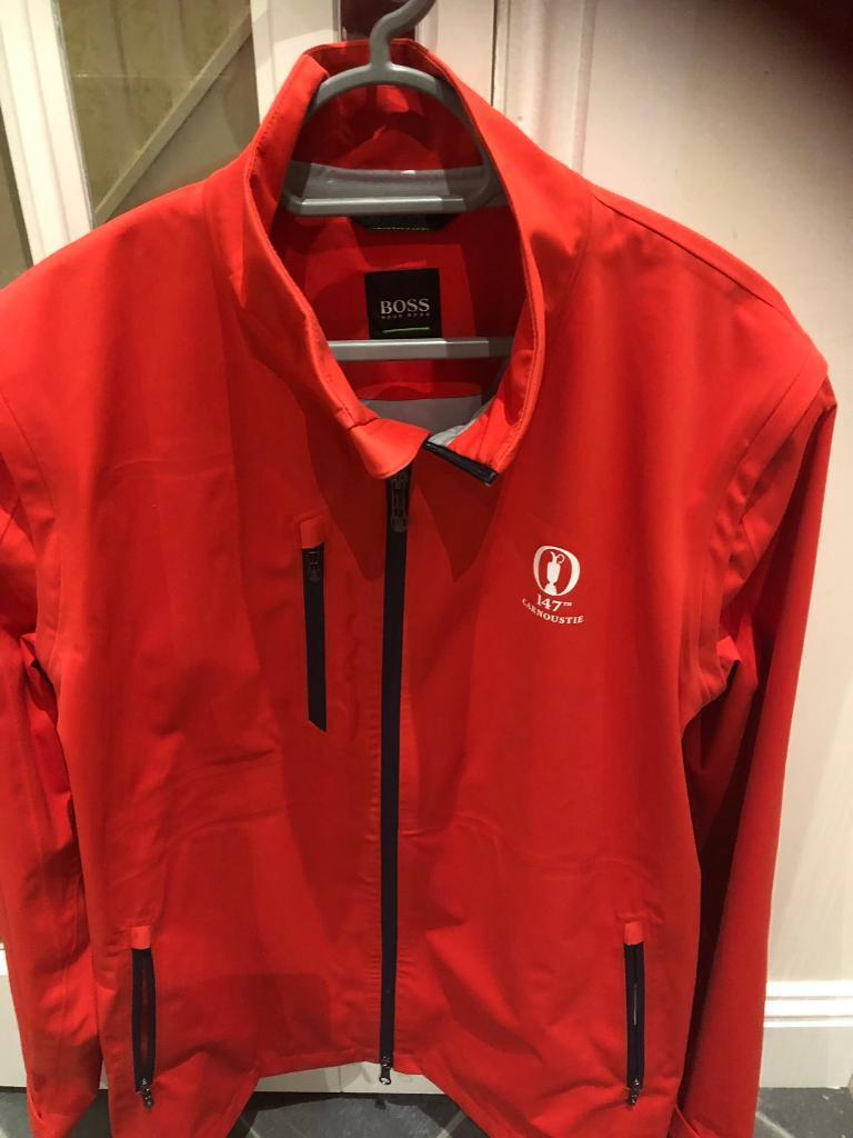 hugo boss waterproof golf jacket