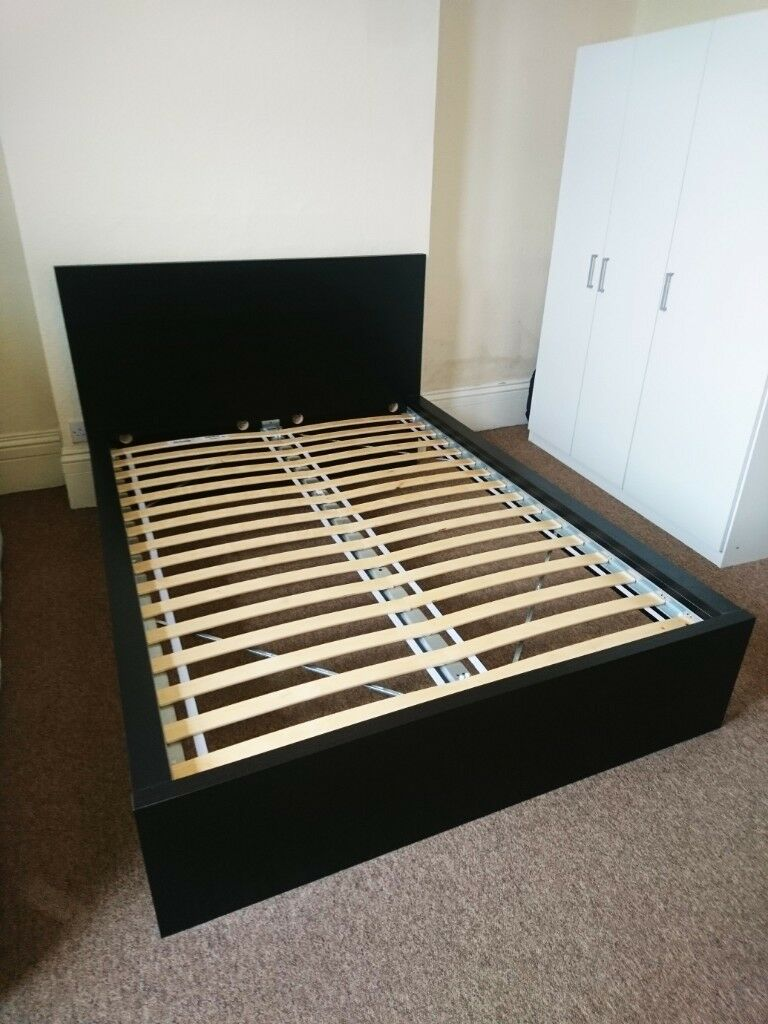 Ikea Malm Bed Size Uk Bed frame high MALM oak veneer LuröyBed frame