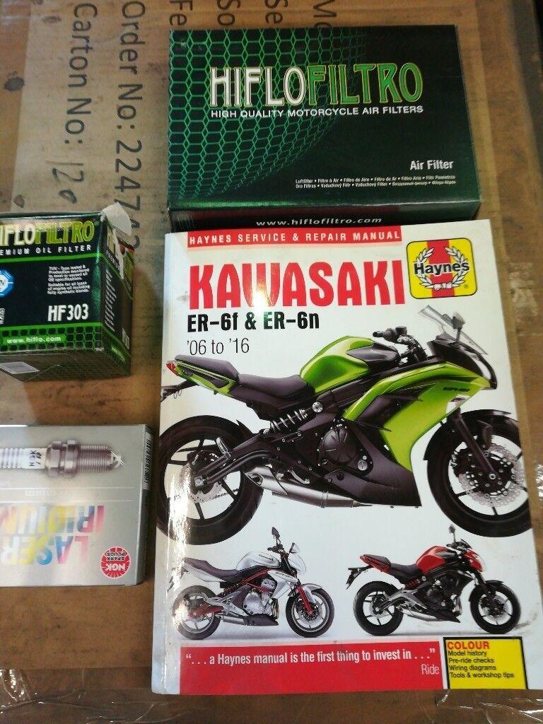 Kawasaki Er6f Wiring Diagram Trusted Diagrams And Er6n Haynes Book Hiflo Air Oil Filters