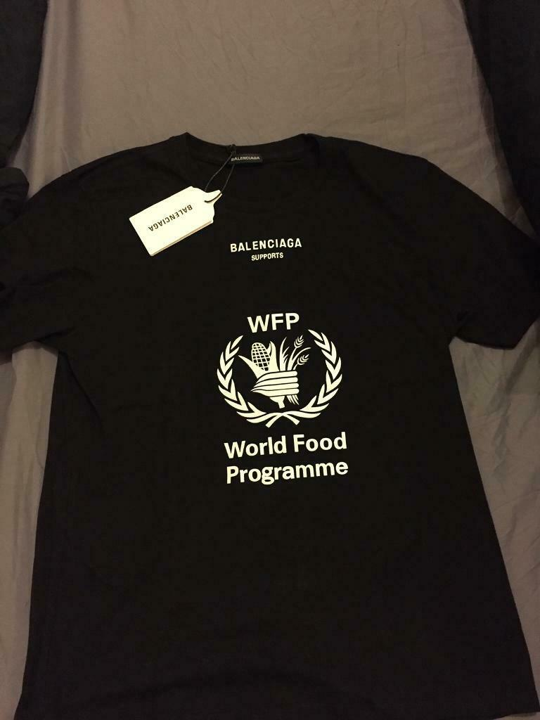 Balenciaga World Food Program Shirt Off 78 Free Shipping