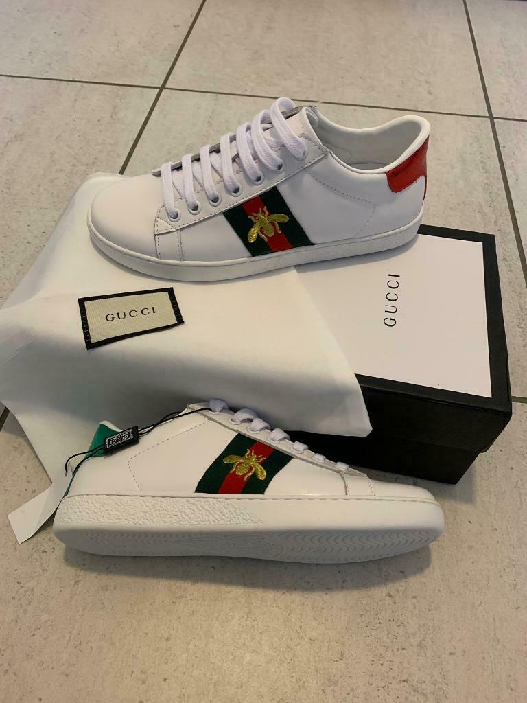 white womens gucci trainers - 65% OFF
