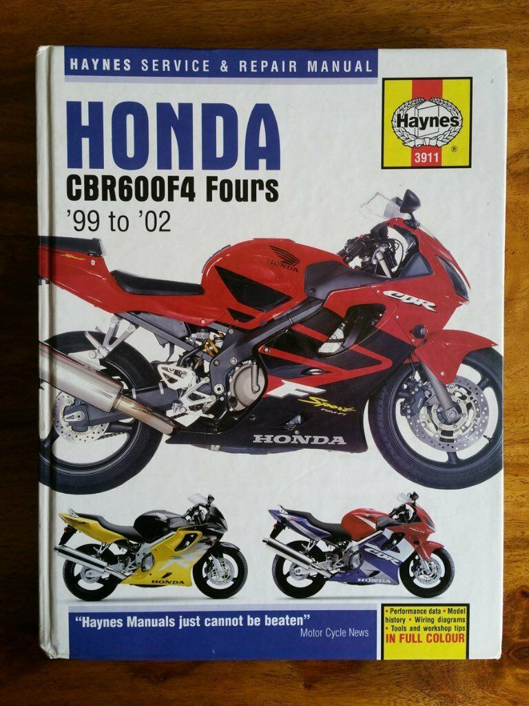 Wire Diagram 02 Honda Cbr 600 Electrical Wiring Diagrams 2009 Cbr600rr Haynes Manual Cbr600 F4 Fours 99 To In Newton Aycliffe F