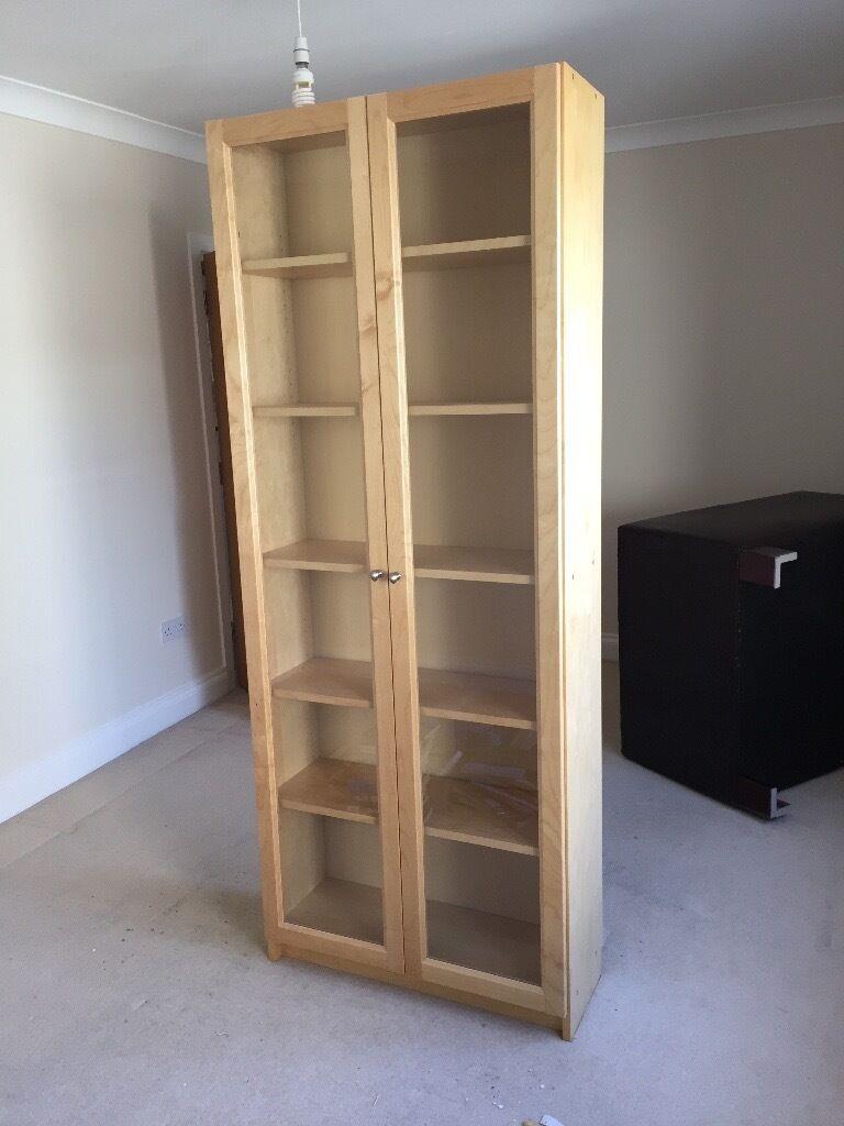 Http www ikea com 80 gb en images products billy morliden bookcase oak - Ikea Birch Tall Billy Bookcases 1 X Double Doors And 1 X Single Door