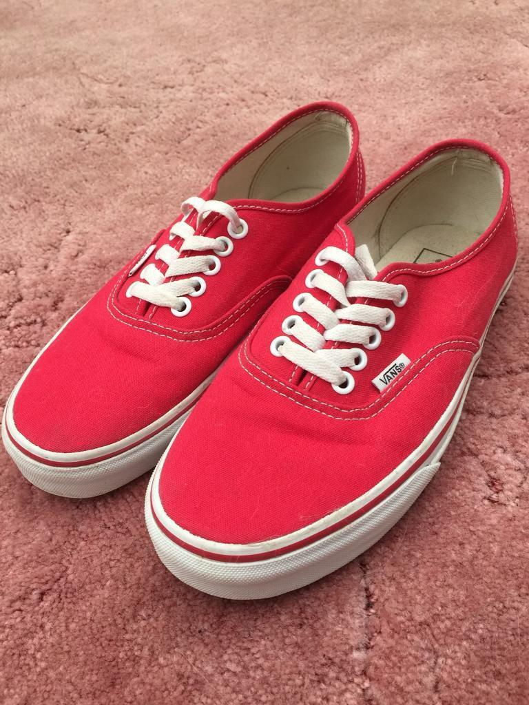 1b230622c1 Red Vans pumps trainers size 6.5 uk 40 euro