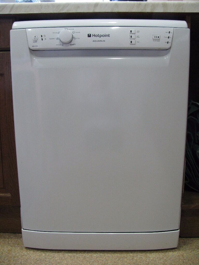 Hotpoint HFC2B19UK 60cm Aquarius Dishwasher in White 13 Place Set .