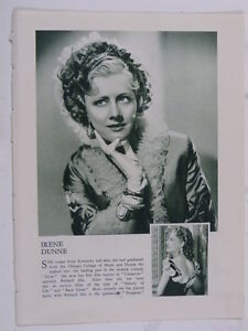 IRENE-DUNNE-vintage-cutting-green-white-monochrome-photo-1935-8x10
