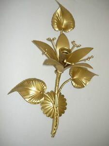 Applique da parete in ferro battuto a giglio oro con foglie ebay - Applique da parete in ferro battuto ...