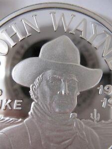 1-TROY-OZ-JOHN-WAYNE-THE-DUKE-1907-1972-BARTER-BULLION-SILVER-COIN-999-GOLD