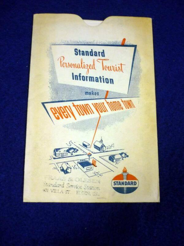 1949 STANDARD OIL PERSONALIZED TOURIST INFO BOOKLET