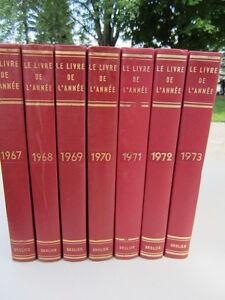 """""""Le Livre de l'Année""""1951-1952-1953- 1968 -1969 -1984-1985-1986"""