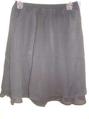 Cervelle Black Lined Skirt Womens Size Medium M 8 10