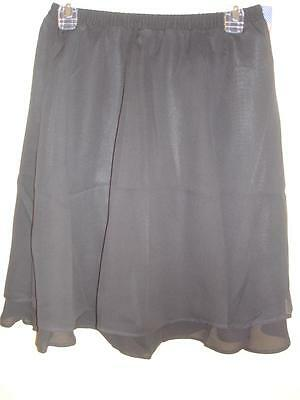 Cervelle Black Lined Skirt Womens Size Medium M 8 10