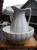 """""""STAFFORDSHIRE"""" bowl & jug"""