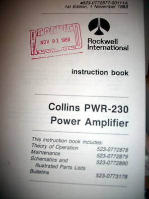 Collins PWR-230 HF Power Amplifier Service manual