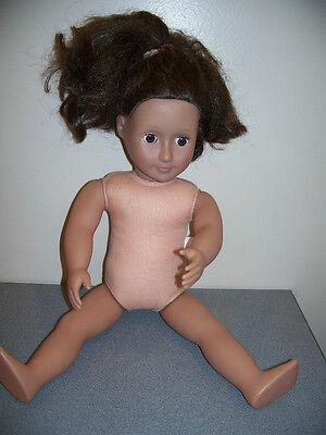 "18"" BATTAT ""OUR GENERATION"" GIRL DOLL BROWN HAIR EYES WHITE AMERICAN"