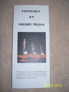 Caesars-Palace-Statuary-Carved-From-White-Carrara-Marble-Brochuer-Las-Vegas-Nv