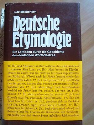 Deutsche Etymologie Lutz Mackensen ,1977