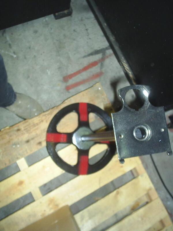 """Original FORD GUMBALL MACHINE Stand """"Hard to find this item """" black and red"""