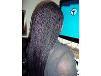 Mobile Hairdresser for Brazilian knots, Boho Locs, Crochet, Senegalese....