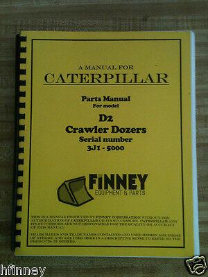 Cat Caterpillar D2 Parts Manual Book Dozer 3j -5000