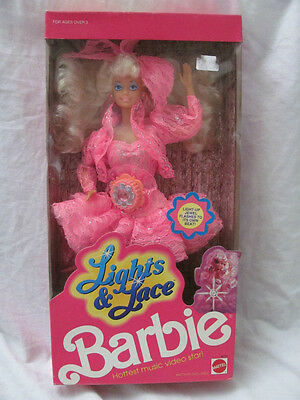 Brand In Box - 1990 Lights & Lace Barbie Doll -hottest Music Video Star 9725