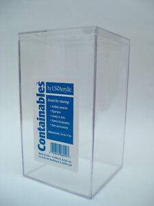 New-Clear-Plastic-Acrylic-Display-Case-Beanie-Baby