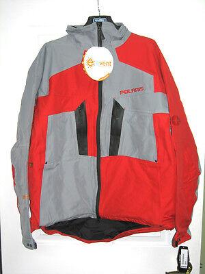 Polaris Size Medium Tall Mountain Jacket Red/grey Snowmobile Event Fabric