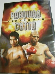MANNY PACQUIAO & COTTO FIREPOWER ORIGINAL DVD  AUTOGRAPH COA
