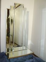 Beautiful wall mirror with mirrored shelf
