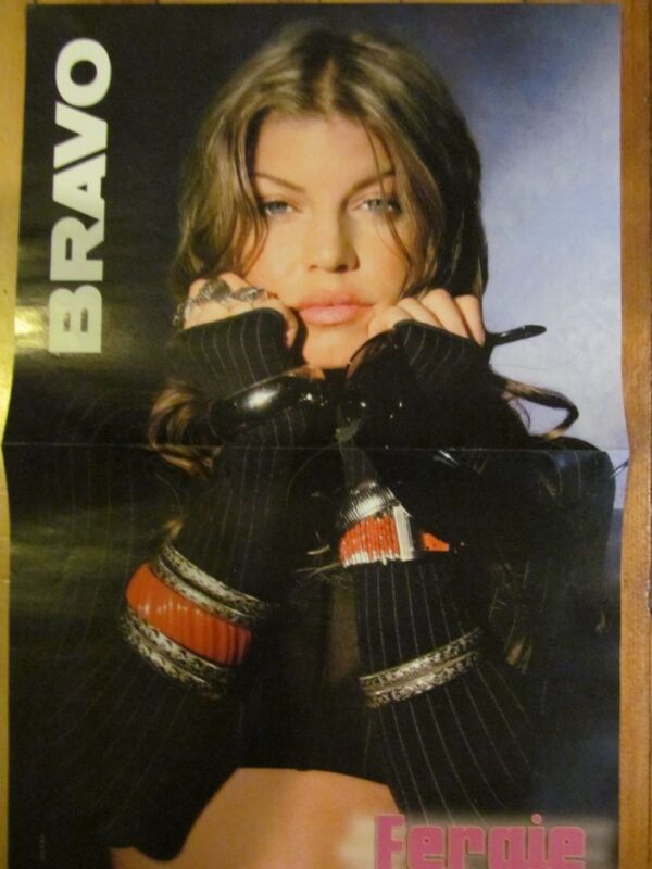 Fergie, Great Photo, Two Page Centerfold, Foreign Magazine, Black Eyed Peas