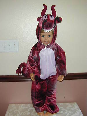 HALLOWEEN COSTUME Cool Red Dragon Jumpsuit Quality Toddler S Warm Plush Cute Wow (Cool Toddler Halloween Costumes)