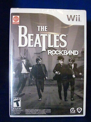 Wii The Beatles Rock Band Sealed