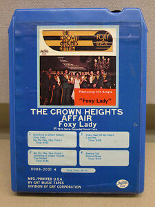 CROWN-HEIGHTS-AFFAIR-8-track-vtg-tape-rare-Foxy-Lady-1975