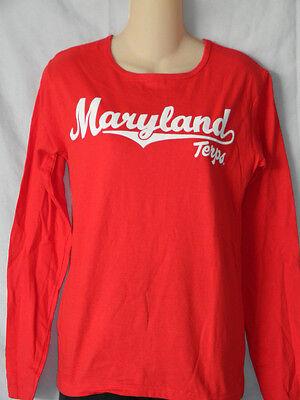 New University Of Maryland Terrapins T Shirt Womens Football Top Size M 2Xl 3Xl