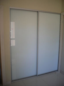 Built In Wardrobe Sliding Doors Made To Measure Up To 2400wide FROSTED