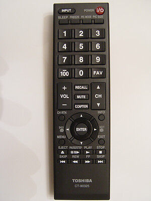 TOSHIBA CT-90325 REMOTE CONTROL PART # 75014374 For 32C100  32DT1  32SL400