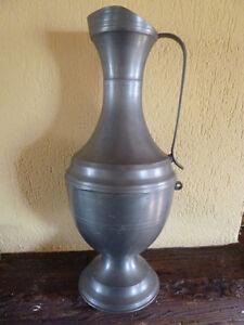 grande cruche vase en etain lys hauteur 38 cm ebay. Black Bedroom Furniture Sets. Home Design Ideas
