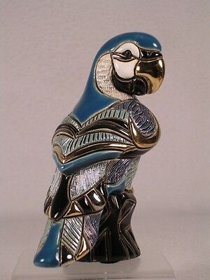 DeRosa Rinconada Family Collection Adult 'Blue Parrot' Figurine - NEW #F138B NIB