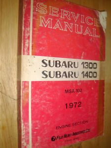 1972-SUBARU-1300-1400-SHOP-MANUAL-ORIGINAL-SERVICE-BOOK