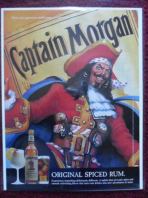 1994 Print Ad Captain Morgan Spiced Rum Pirate Art