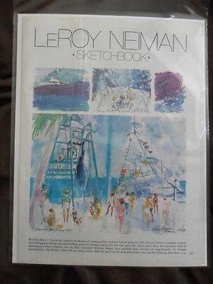 1980 Magazine Art Page Leroy Neiman Revisiting the Bimini Islands Bahamas