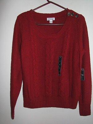St. John's Bay Garnet Nep Sweater Large $44