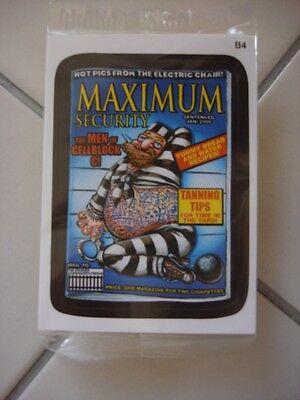 2011 Wacky Packages Ans8 Bonus Card B4 Maximum Security