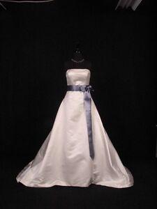 Smoke-Blue-Double-Faced-Satin-Ribbon-Sash-Bridal-Wedding-Bridesmaid-Brand-New